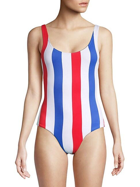 Kelly Striped One-Piece Swimsuit