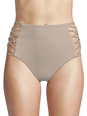 TORI PRAVER SWIM Damia Bikini Bottom in Driftwood