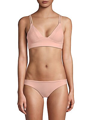 TORI PRAVER SWIM Suzette Bikini Top in Rose Quartz