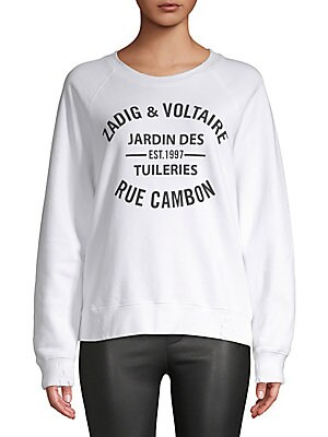 ZADIG DISTRESSED LOGO SWEATSHIRT