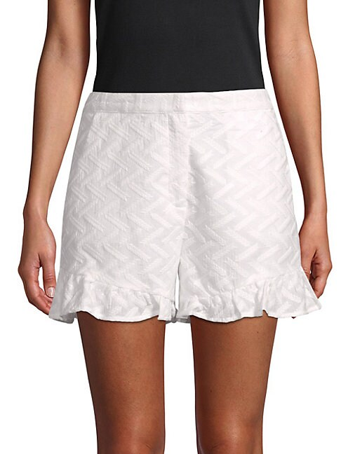 Moon River TEXTURED COTTON SHORTS