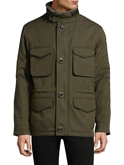 RAINFOREST Heated Flagler Field Jacket in Olive
