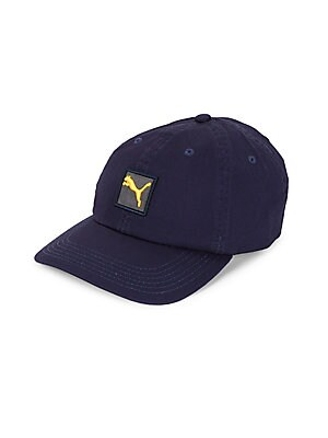 PUMA - Logo Cotton Baseball Cap - saksoff5th.com ed7e1fc617e4