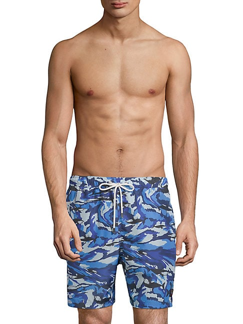 Camouflage Woven Swim Trunks