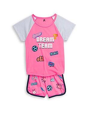 Little Girls TwoPiece Graphic Pajama Set