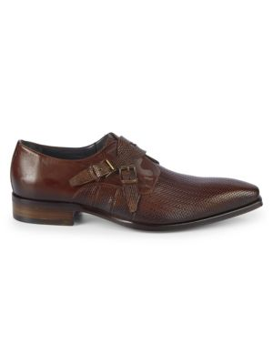 JO GHOST Buckled Leather Loafers in Tan