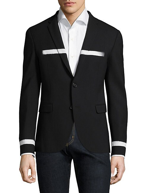FACTORY BY ERIK HART | Brush Stripe Slim-Fit Jacket | Goxip