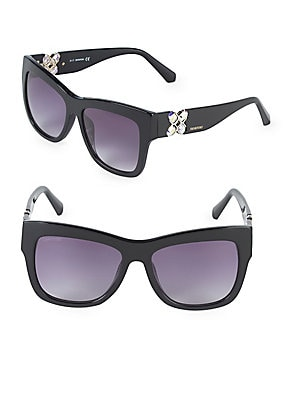 54MM Crystal Square Sunglasses
