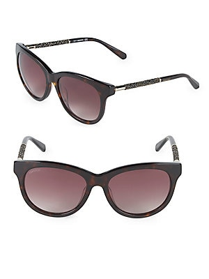 56MM Crystal Square Sunglasses