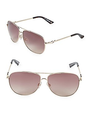 61MM Crystal Aviator Sunglasses