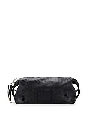 Perforated Leather Toiletry Bag