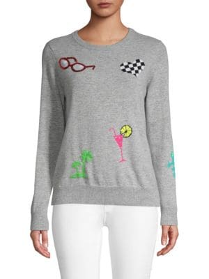 Autumn Cashmere Tropical Embellished Cashmere Sweater