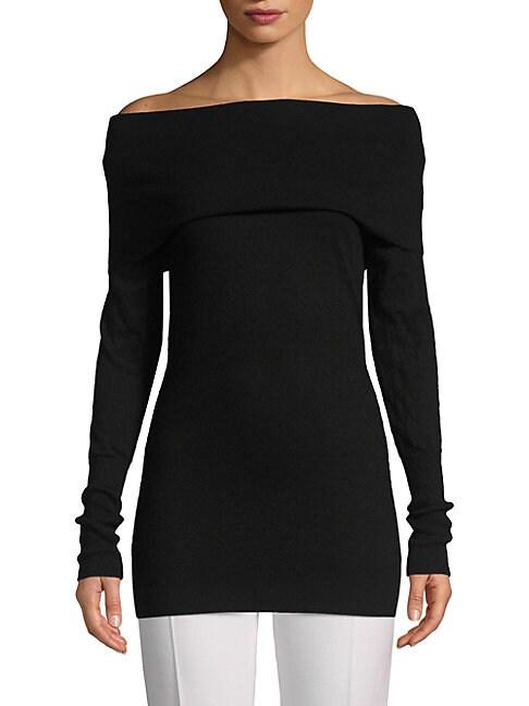 Autumn Cashmere Cashmeres Off-The-Shoulder Cashmere Sweater