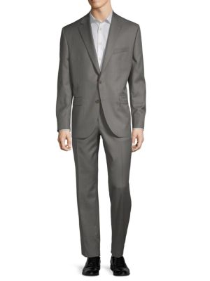 Esprit Buttoned Wool Suit in Grey