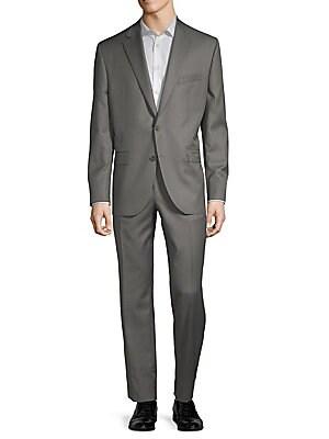Esprit Buttoned Wool Suit, Grey