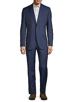 Esprit Striped Wool Suit, Blue