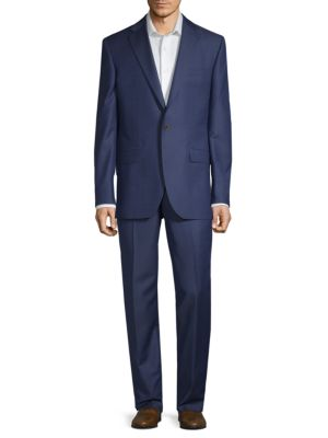 Classic Wool Suit in Blue