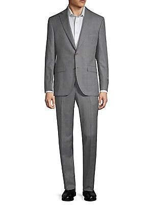 Esprit Windowpane Wool Suit, Grey
