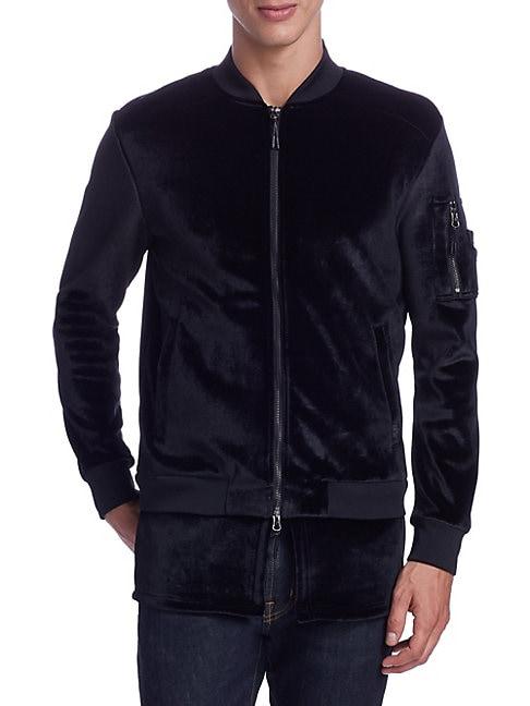 Zip-Up Velvet Jacket