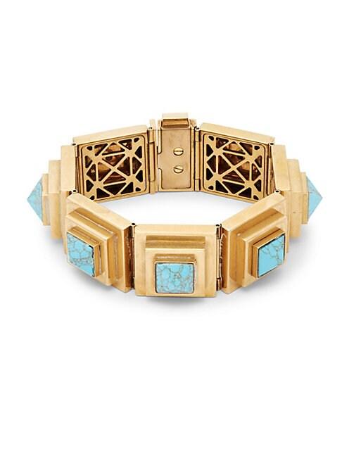 Turquoise Geometric Bracelet