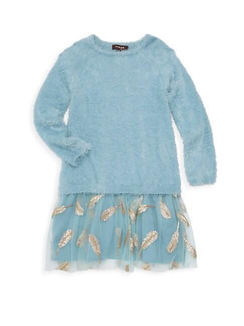 Little Girls  Girls Faux Fur Sweater  Tulle Dress