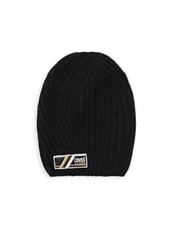 7298cc86329 QUICK VIEW. Roberto Cavalli. Wool Ribbed Knit Beanie