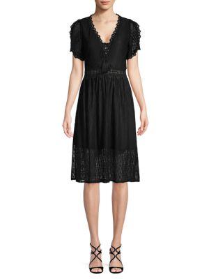 Allison New York Short-Sleeve Lace Dress