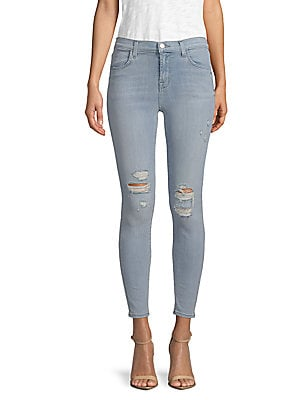 Distressed Stretch Skinny Jeans