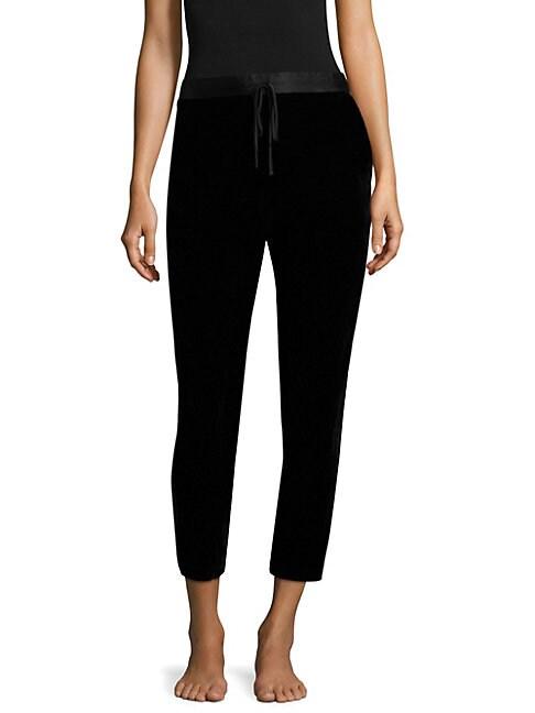 NATORI | Cropped Velvet Pants | Goxip