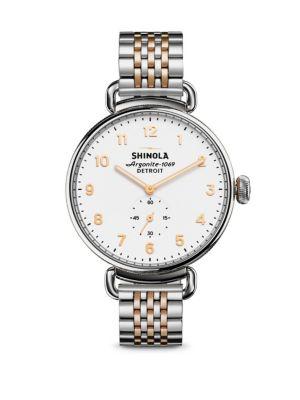 Shinola Canfield Two-Tone Stainless Steel Bracelet Watch