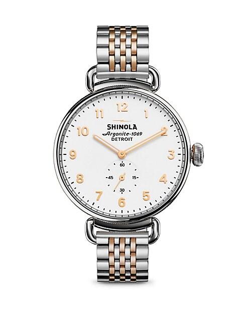 SHINOLA | Canfield Two-Tone Stainless Steel Bracelet Watch | Goxip