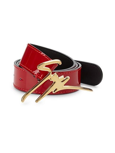 Ulan Logo Leather Belt