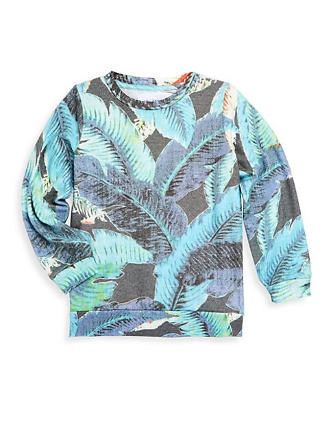 Little Boy's & Boy's Lanai Leaf Sweater