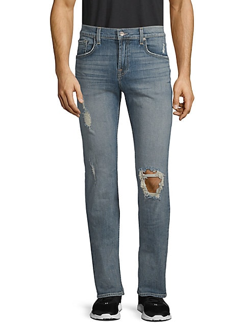 Slimmy Stretch Cotton Ripped Jeans