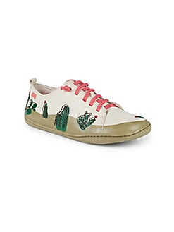Camper - Girl's Cactus Leather Sneakers