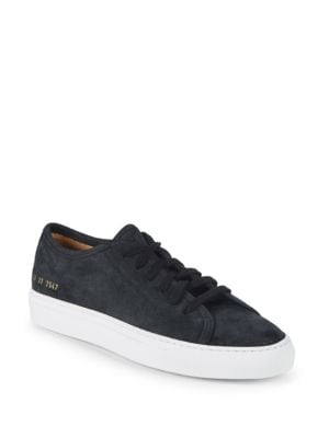 Common Projects Achilles Suede Low-Top Sneakers