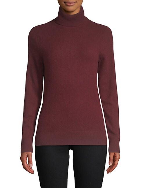 CASHMERE SAKS FIFTH AVENUE | Turtleneck Cashmere Sweater | Goxip