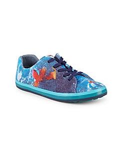 Camper - Girl's Printed Low-Top Sneakers