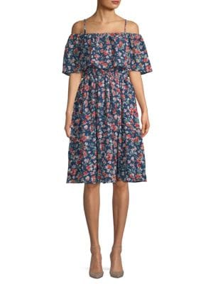 Kas New York Sophia Floral Knee-Length Dress