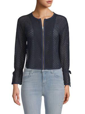 Ellen Tracy Textured Short Jacket
