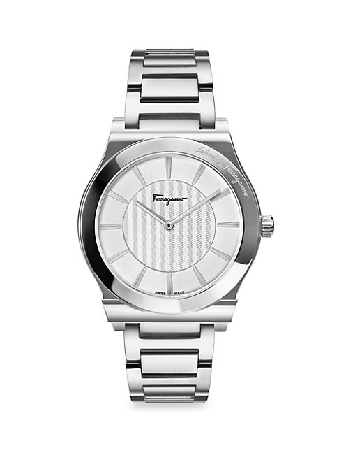 SALVATORE FERRAGAMO | Stainless Steel Bracelet Watch | Goxip