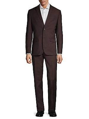 Slim Fit Solid Wool Blend Suit by Ben Sherman