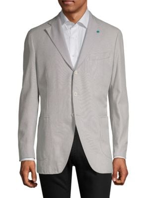 Eidos Notch Lapel Wool Jacket