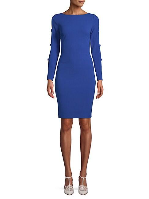 Buckle Tab Bodycon Dress