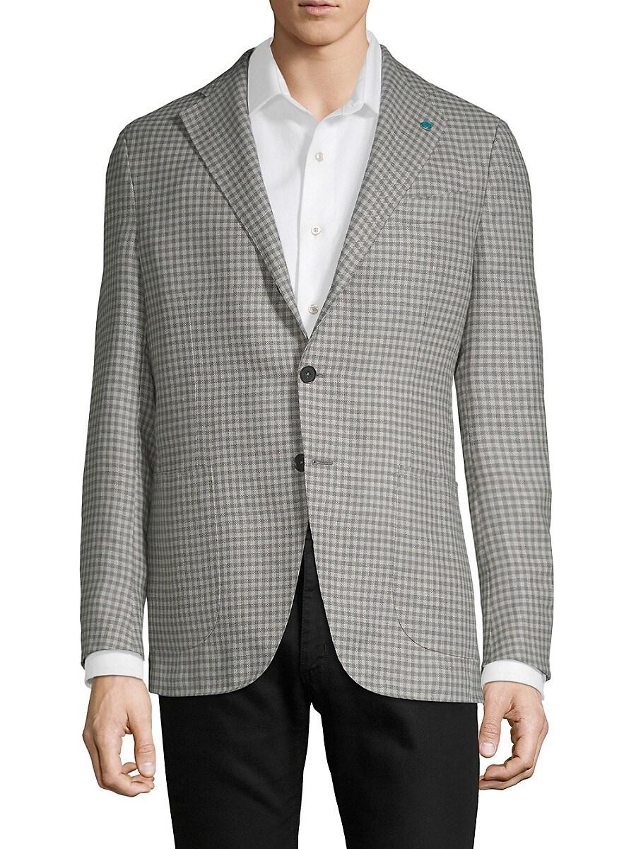 Men's Plaid Wool Jacket