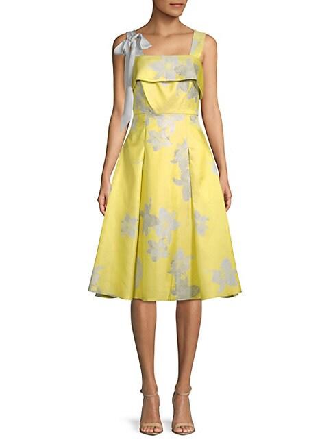 BELLE BADGLEY MISCHKA | Brianna Floral A-Line Dress | Goxip