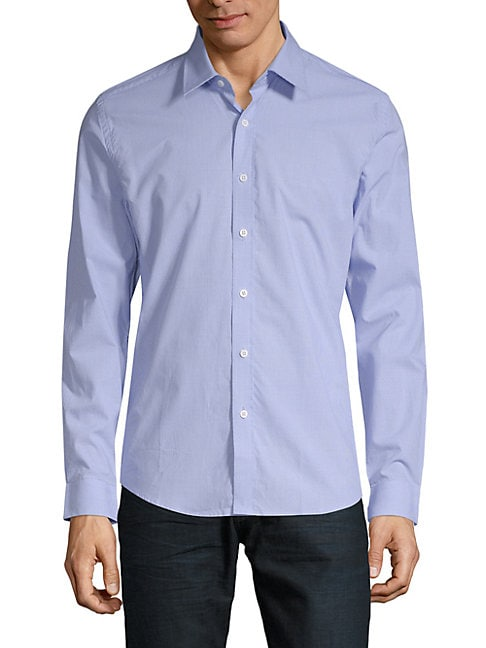 Cotton Slim-Fit Button-Down Shirt