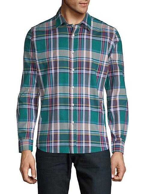 Tartan Cotton Button-Down Shirt