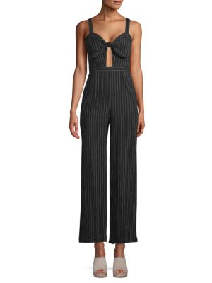Lost + Wander Lexy Striped Bow Jumpsuit