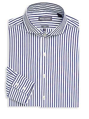 Striped Long-Sleeve Dress Shirt
